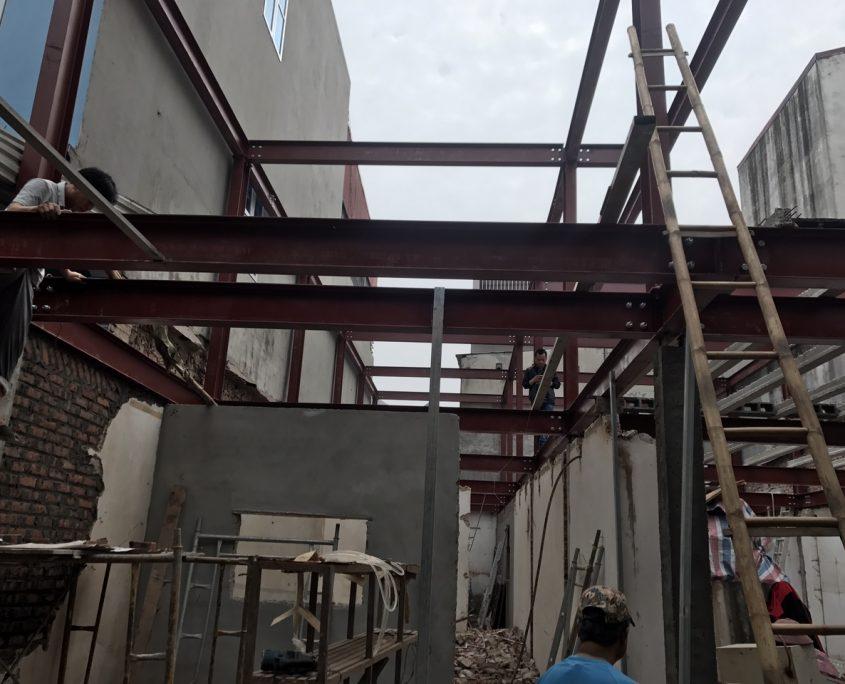 Thi công sàn bê tông nhẹ và khung thép tại Bắc Ninh