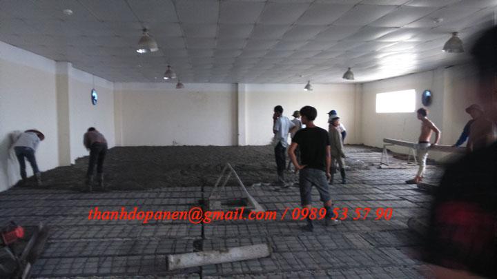 Thi công sàn bê tông nhẹ tại công ty Hanvet