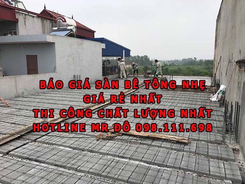 Báo giá sàn bê tông siêu nhẹ