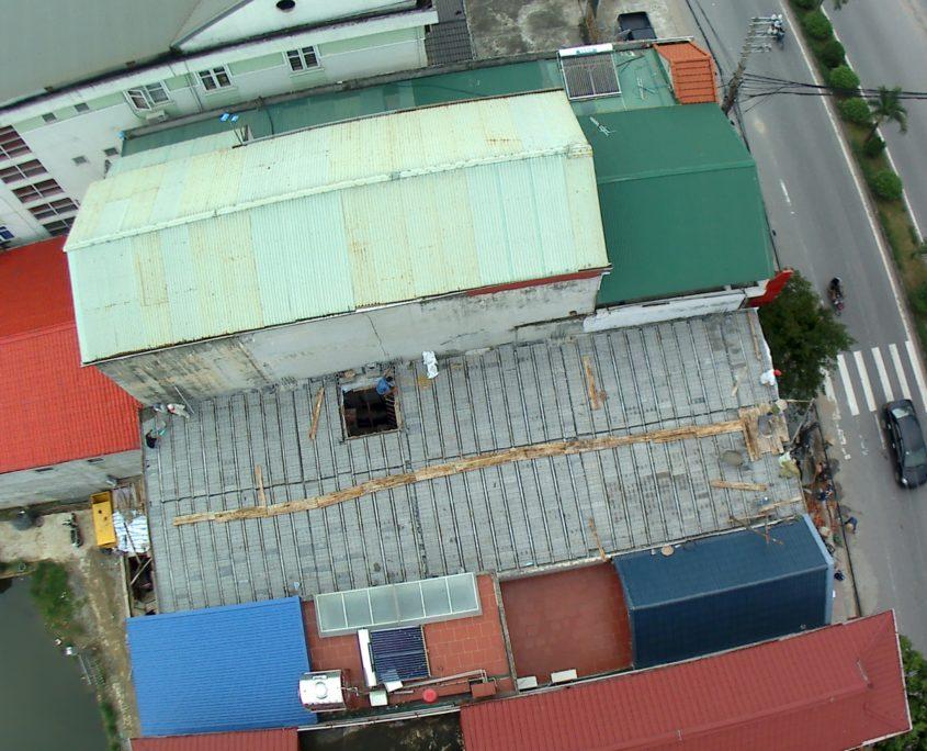 Công trình sàn bê tông nhẹ Xuân Mai 200m2 tại Thạch Thất - Hà Nội