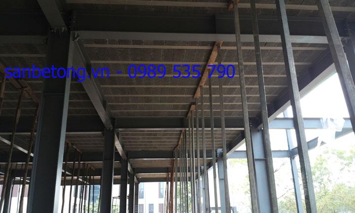 Công trình sàn bê tông nhẹ Xuân Mai và khung thép tại TT Hội nghị Quốc Gia