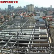 Công trình sàn bê tông nhẹ và khung thép từ trên cao 1
