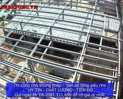 Công trình sàn bê tông nhẹ và khung thép từ trên cao 3