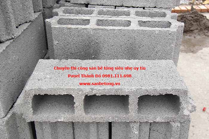 Gạch bê tông siêu nhẹ dùng là sàn nhà