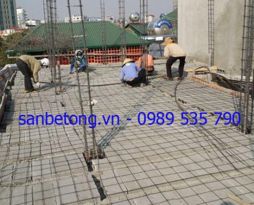 Làm sàn bê tông nhẹ tại số nhà 24 phố Phương Mai