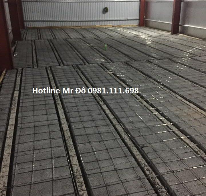 Thi công 300m2 sàn bê tông nhẹ tại Láng Hạ - Hà Nội