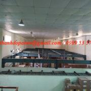 Thi công hệ khung thép và sàn bê tông nhẹ tại Cty Dược Hanvet