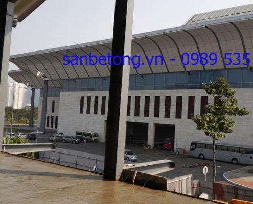 Thi công sàn bê tông nhẹ tại TT Hội nghị Quốc Gia