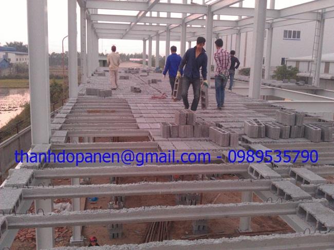 Công trình sàn bê tông siêu nhẹ tại Công ty cổ phần nước giải khát AROMA