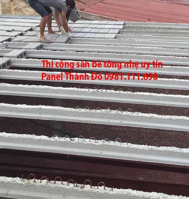 Sàn bê tông nhẹ khung thép được nhiều người ưa dùng trong xây dựng