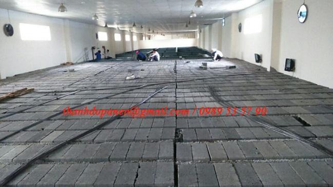 Sàn bê tông siêu nhẹ là sự kết hợp gạch bê tông nhẹ và dầm dự ứng lực