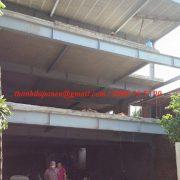 Toàn cảnh công trình nhà khung thép và sàn bê tông nhẹ