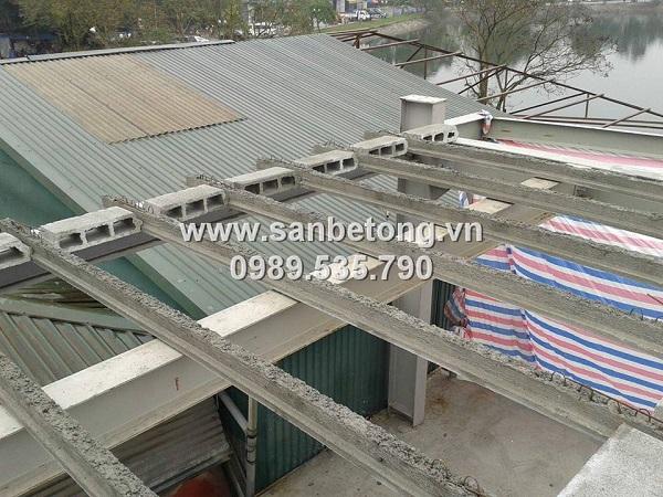 Nhà khung thép kết hợp với sàn bê tông nhẹ