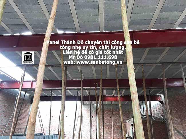 Thi công sàn bê tông nhẹ giảm chi phí về cot pha