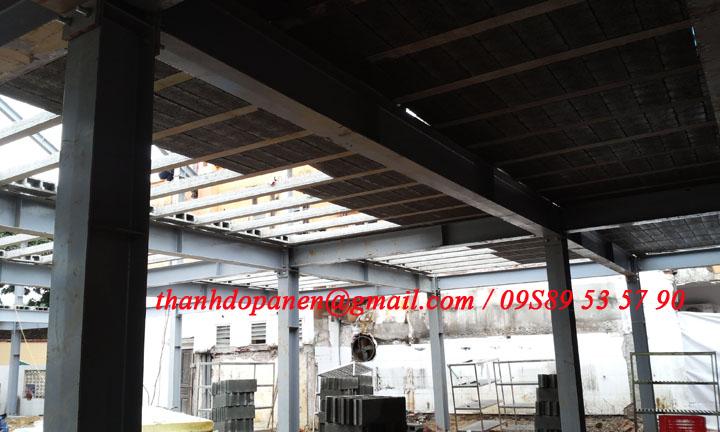 sàn panel nhẹ hệ khung thép tại TẢN ĐÀ SPA RESORT