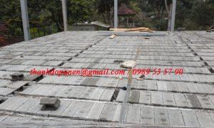 Sàn panel nhẹ gồm các thành dầm dự ứng lực và gạch bê tôn siêu nhẹ