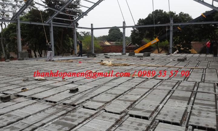 Công trình sàn panel nhẹ hệ khung thép dần được hình thành