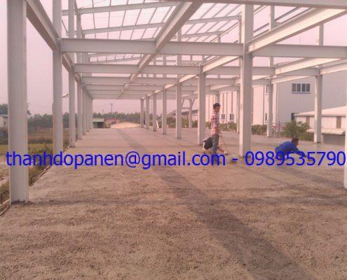 Sàn panel nhẹ được đổ lớp bê tông tươi tạo kết dính