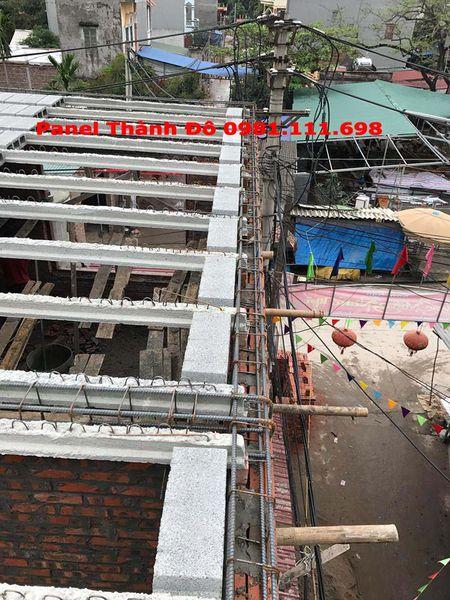 Cận cảnh kết cấu dầm của công trình sàn bê tông nhẹ tại Mỹ Hào - Hưng Yên