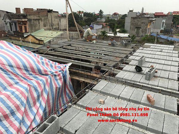 Toàn cảnh thi công sàn bê tông nhẹ tại Mỹ Hào - Hưng Yên
