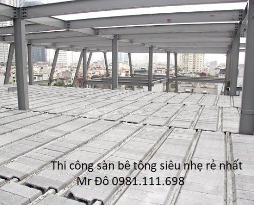 Một công trình xây dựng 2.000m2 sử dụng sàn bê tông siêu nhẹ tại Hà Nội