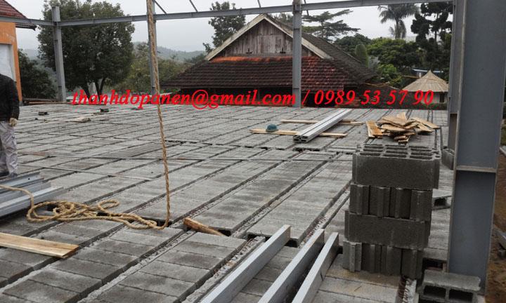 Sàn panel nhẹ và hệ khung thép chịu lực là giải pháp thi công hiện đại