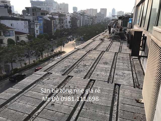 Công trình dân dụng tại hà Nội cũng sử dụng sàn bê tông siêu nhẹ