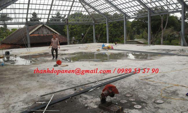 Sàn panel nhẹ khung thép được hoàn thành bàn gia đúng tiến độ và yêu cầu kỹ thuật