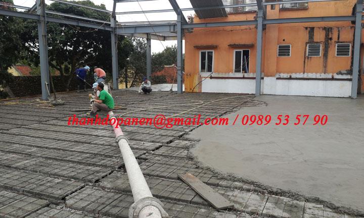 Thi công sàn panel nhẹ - sàn bê tông siêu nhẹ có giá thành hạ