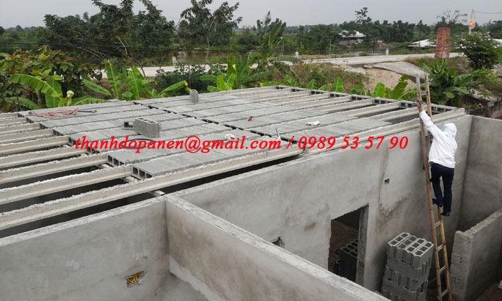 Toàn cảnh công trình sàn bê tông nhẹ tại Duy Tiên - Hà Nam