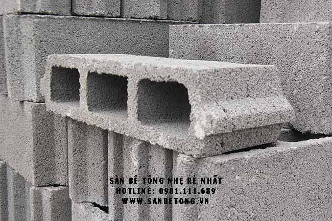 Gạch bê tông siêu nhẹ Block dùng trong sàn bê tông siêu nhẹ tạ Cầu Giấy