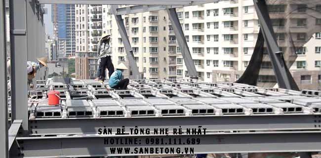 Sàn bê tông siêu nhẹ sử dụng nhiều trong xây dựng hiện đại
