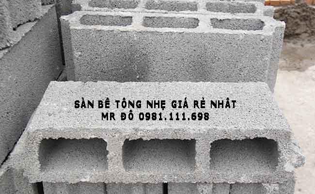 Gạch bê tông nhẹ Block có khả năng cách âm, chống nóng, chống nồm và điều hòa không khí tốt