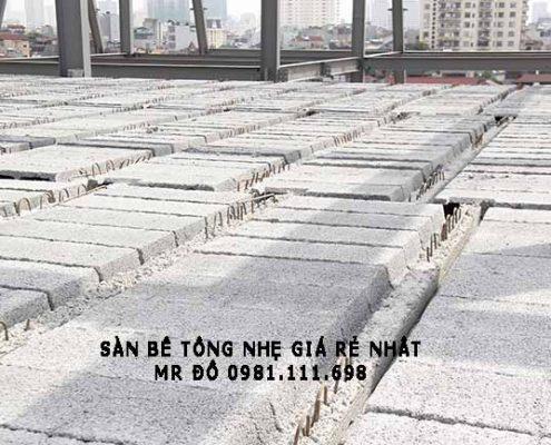 Một mặt sàn bê tông nhẹ tại Cầu Giấy - Hà Nội
