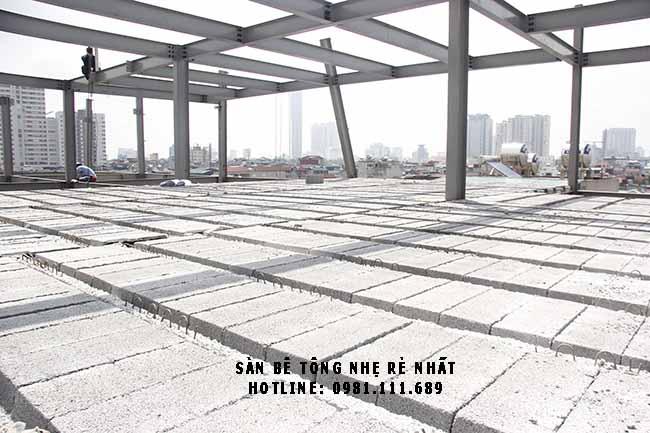 Một công trình sử dụng sàn bê tông siêu nhẹ tại Hà Nội