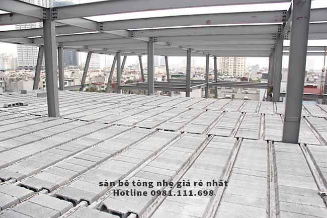 Một công tình xây dựng sử dụng 2.000m2 sàn bê tông nhẹ (sàn bê tông panel siêu nhẹ)