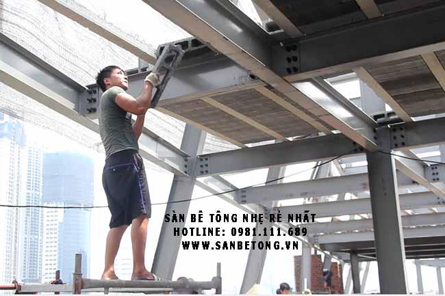 Lắp đặt gạch bê tông siêu nhẹ Block