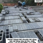 Sàn bê tông nhẹ được sử dụng nhiều trong xây dựng công nghiệp và dân dụng