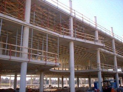 Một công trình sử dụng sàn bê tông không dầm