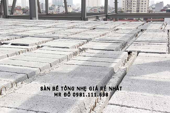 Một công trình xây dựng dùng sàn bê tông nhẹ