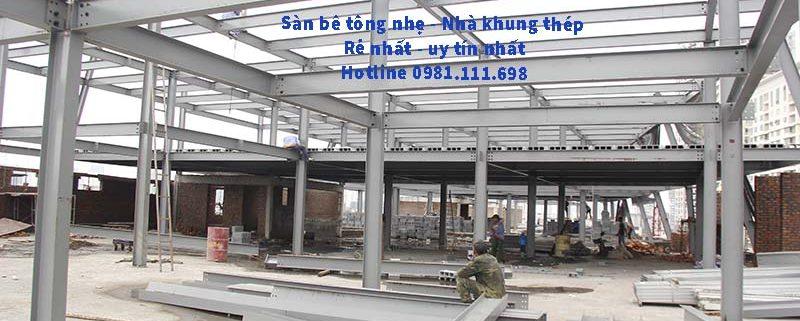 Một công trình xây dựng lớn sử dụng kết cấu thép