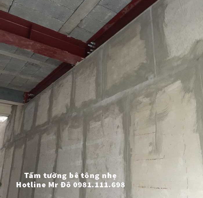 Tấm tường bê tông nhẹ thay thế gạch sét nưng truyền thống rất hiệu quả