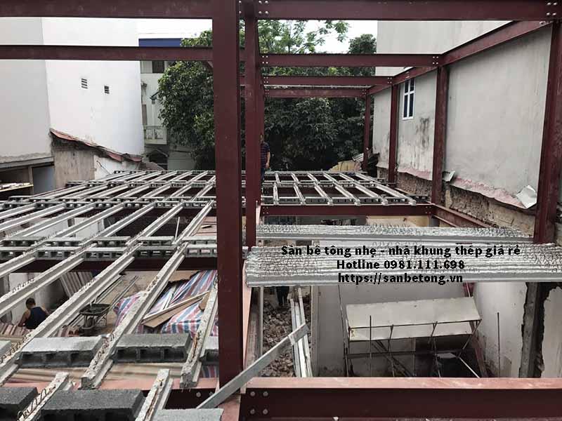 Thi công sàn bê tông nhẹ tại Trần Duy Hưng - Cầu Giấy - Hà Nội