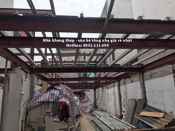 Toàn cảnh công trình nhà khung thép tại số 2 số 2 ngõ 93 Trung kính – Cầu giấy – Hà nội