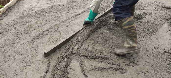 Bê tông đổ trên mặt sàn gạch bê tông nhẹ Block và cốt thép tạo liên kết