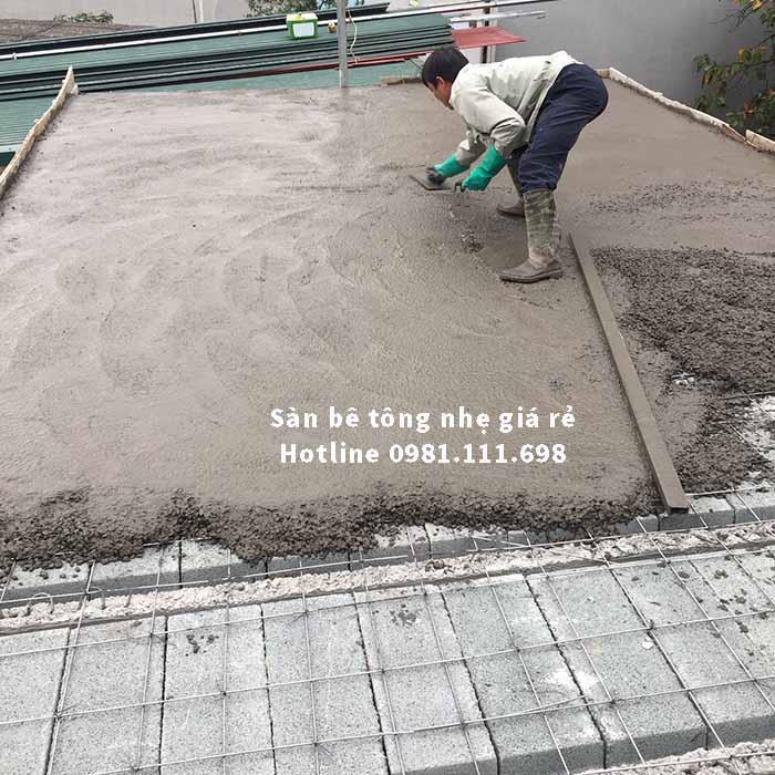 Sàn bê tông siêu nhẹ được hoàn thành nhanh chóng và ban giao cho gia chủ đúng tiến độ và yêu cầu kỹ thuật