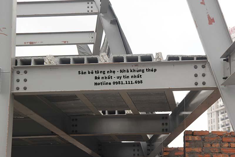 Sàn bê tông siêu nhẹ có gạch bê tông nhẹ Block rỗng làm giảm tải trọng trần nhà