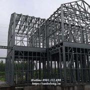 Nhà khung thép là nhà có kết cấu khung, dầm, cột bằng thép tiền chế