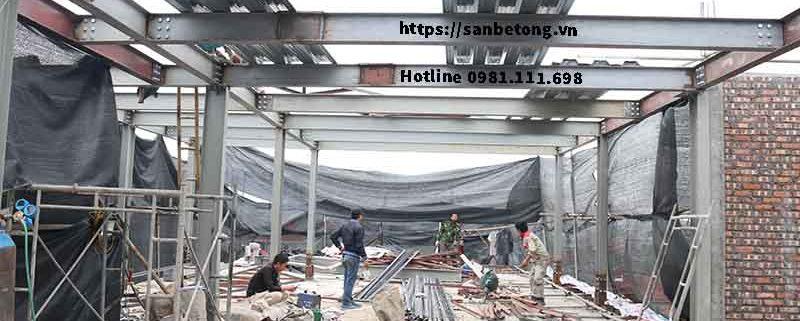 Toàn cảnh nhà khung thép tại Nghi Tàm - Tây Hồ - Hà Nội
