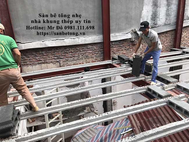Sàn bê tông nhẹ sử dụng nhiều thành dầm bê tông dự ứng lực giúp tăng khả năng chịu lực đều và hạn chế thiệt hại khi có rung chấn